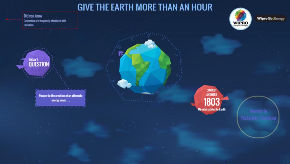 wipro earth hour